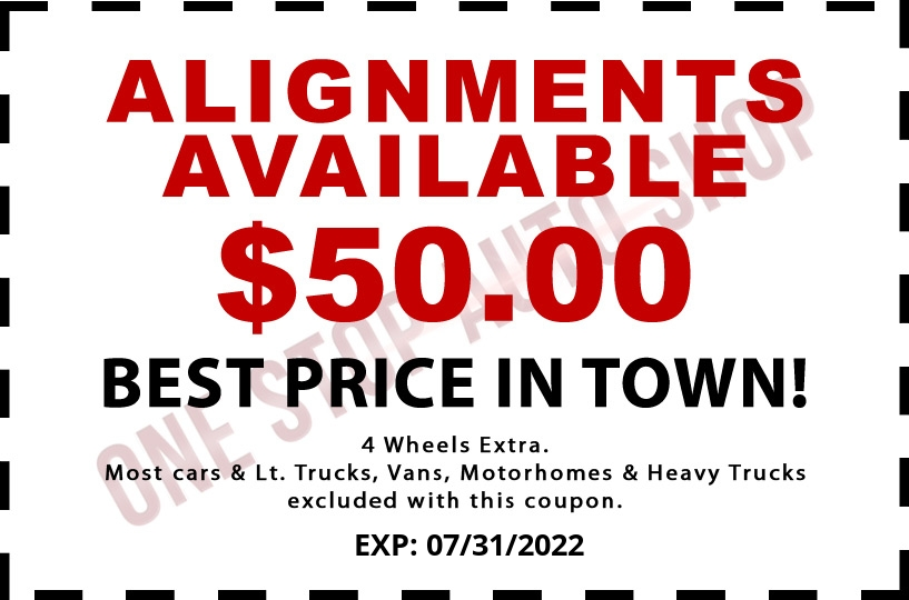 Alignments Available $50.00